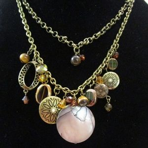 Jewelry - Mother of Pearl Charm Necklace (Vintage)